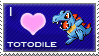 Totodile Love Stamp by SquirtleStamps