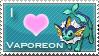 Vaporeon Love Stamp