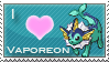 Vaporeon Love Stamp by SquirtleStamps