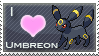 Umbreon Love Stamp by SquirtleStamps