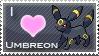 Umbreon Love Stamp