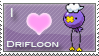 Drifloon Love Stamp by SquirtleStamps