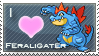 Feraligater Love Stamp by SquirtleStamps