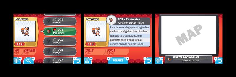 Pokemon Oxygen and Carbon Pokedex Interface