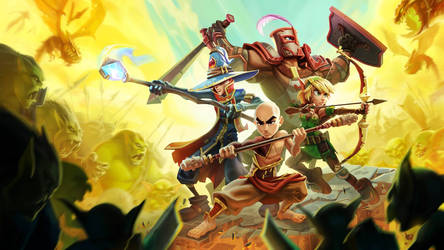 Dungeon Defenders 2 promo by 3nrique