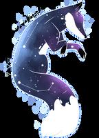 {Digital Watercolor} Space Fox by KodaConstellation