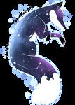 {Digital Watercolor} Space Fox