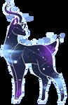 {Digital Watercolor} Space Deer