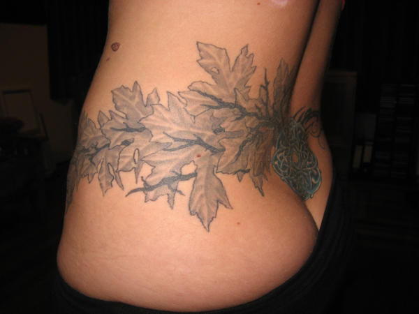 Leaves Celtic work tattoo 1 by aquados