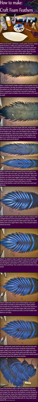 Craft Foam Feather Tutorial by Zanziabar