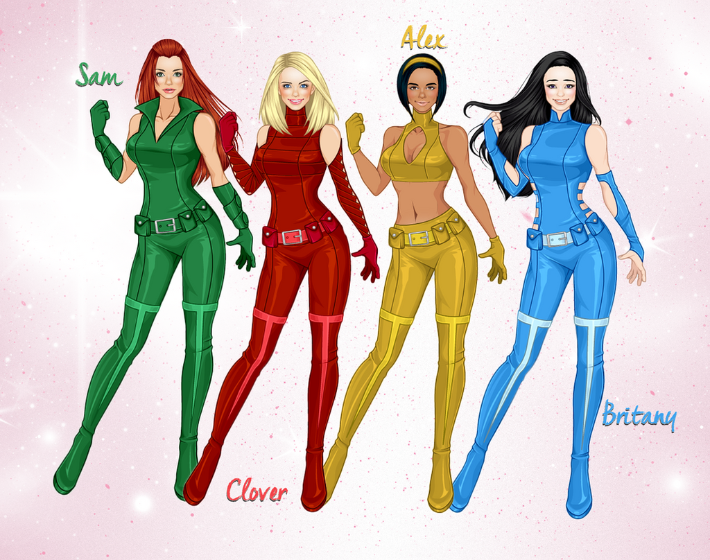 Totally spies 2017 version by nelson4ever on deviantart - Deguisement totally spies adulte ...