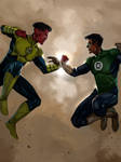 Sinestro and Hal