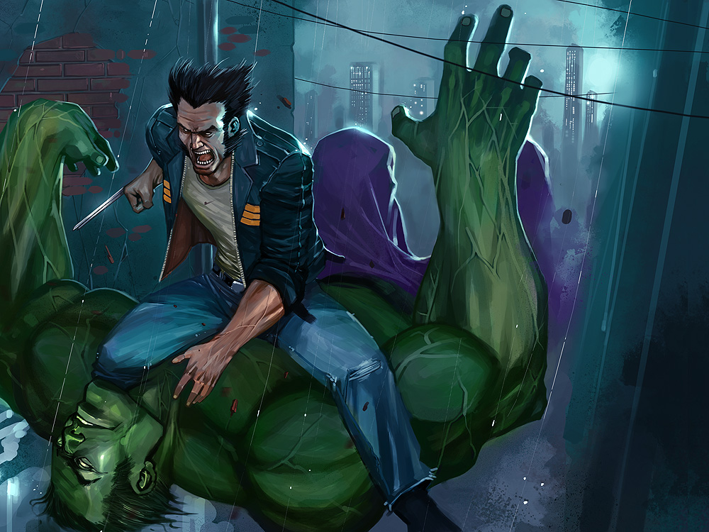 Wolverine x Hulk by el-gallo