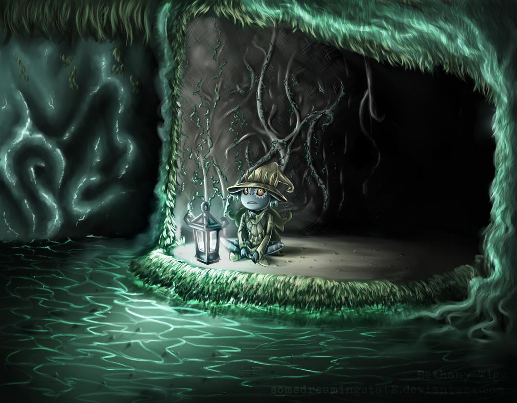 Skull Kid Wallpaper: Skull Kid In The Sacred Grove By SomedreamingstatE On