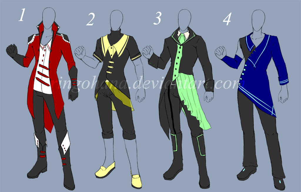 Auction: Male Clothes Design(CLOSED) by Kyone-Kuaci
