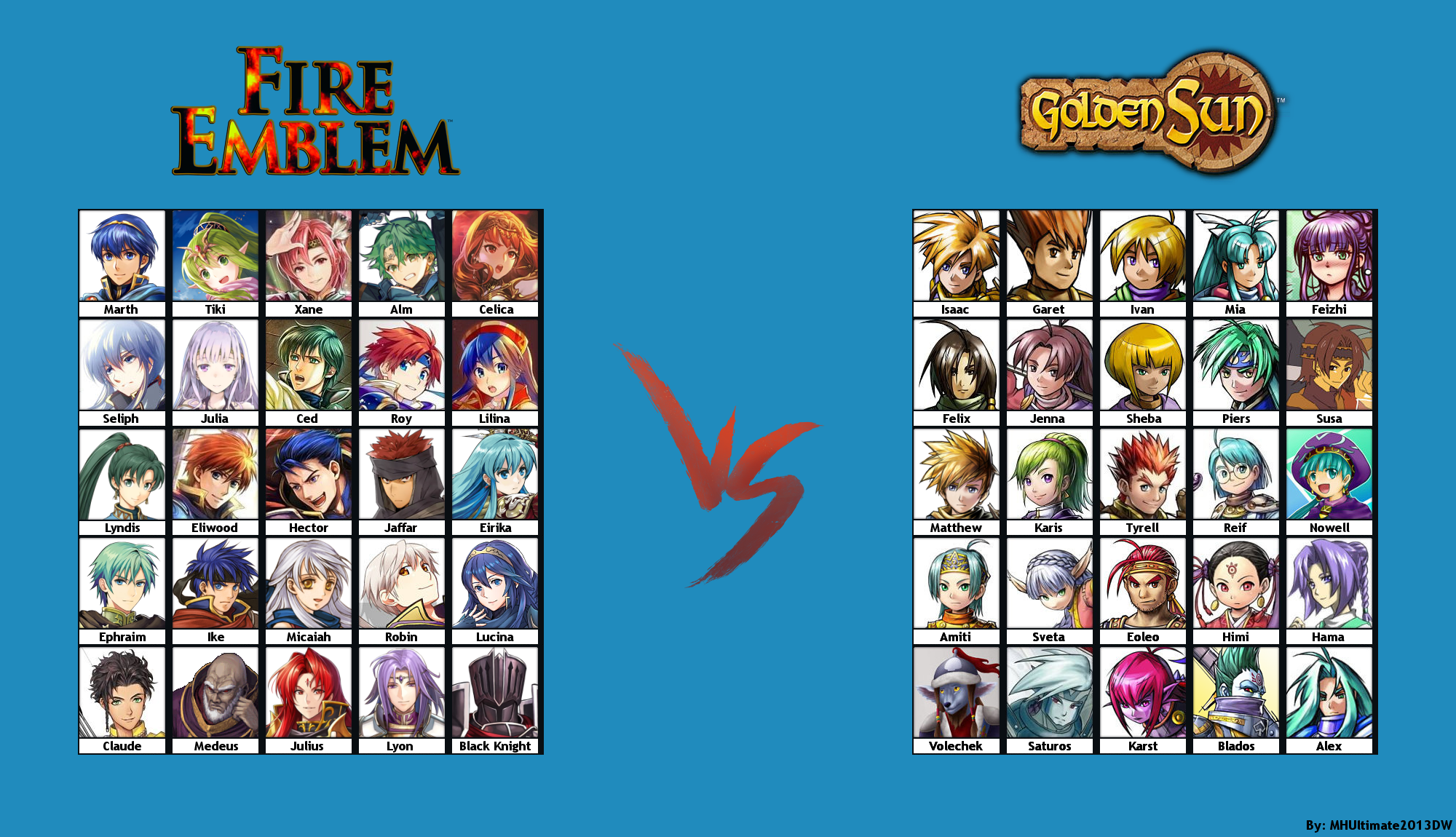 Fire Emblem X Golden Sun Fighting Game Roster By Mhultimate2013dw On Deviantart