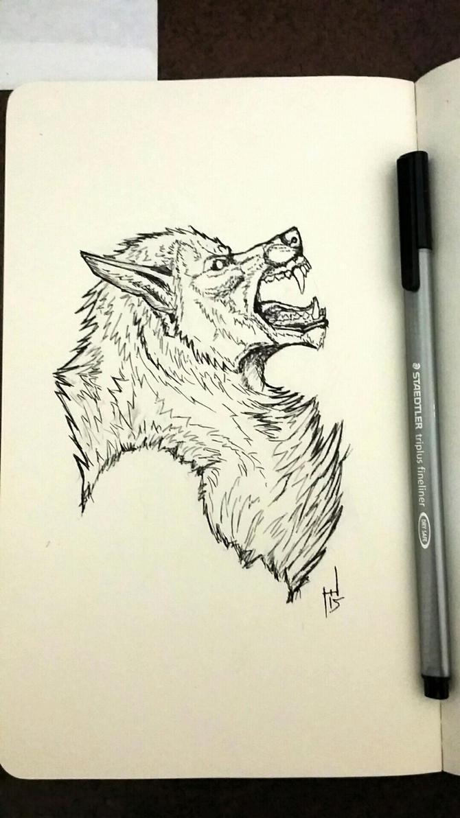 InkTober 2015 #1 by Howlitzer