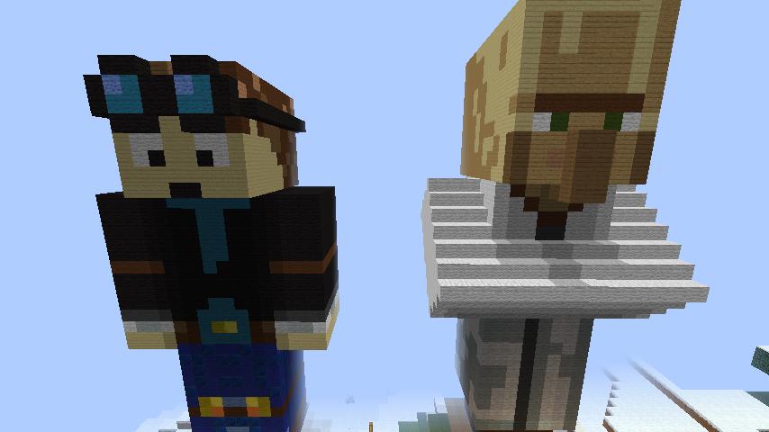 Minecraft Statue Builds: DanTDM and Dr. Trayaurus by Luke-Harrison ...