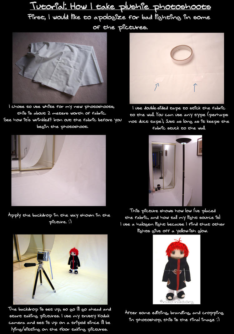 How I take plushie photoshoots by momoiro-machiko