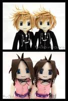 Roxas and Aerith Twins by momoiro-machiko