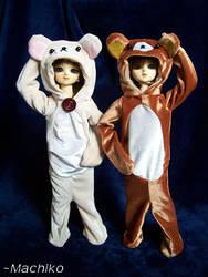 Kuma Pajamas by momoiro-machiko