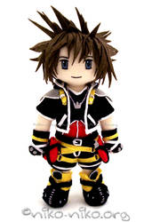 KH2 - Sora Plushie by momoiro-machiko