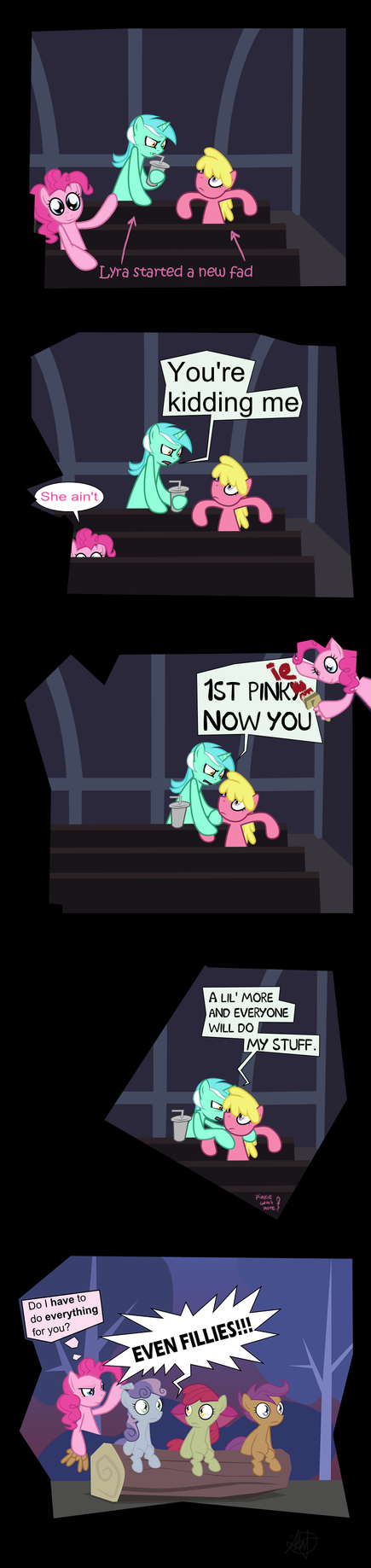 Before it became trendy a.k.a Pinkie spreads by Mafon