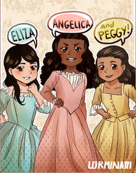 Commission : The Schuyler sisters by Lorminatti