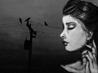 Rainy Day Crows