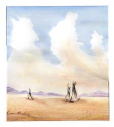Western Watercolor by tyrowish