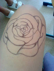 rose on leg