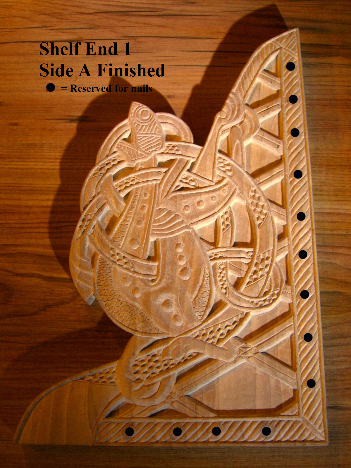 viking style woodcarved bookshelf week 13 by eonari on deviantart