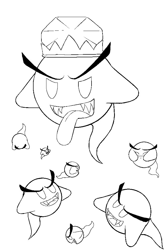 King Boo And The Boos: Outline by StellasStar on DeviantArt
