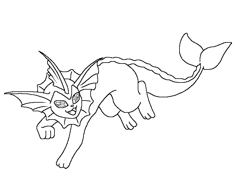 pokemon vaporeon coloring pages - photo#17