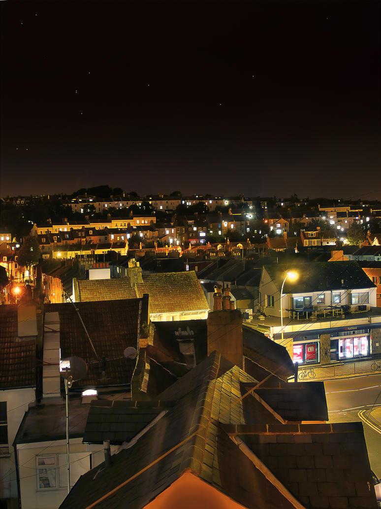 Brighton Skyline HDR Night by garethjns