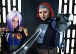 Bo-Katan and Sabine cosplay - Heroes of Mandalore