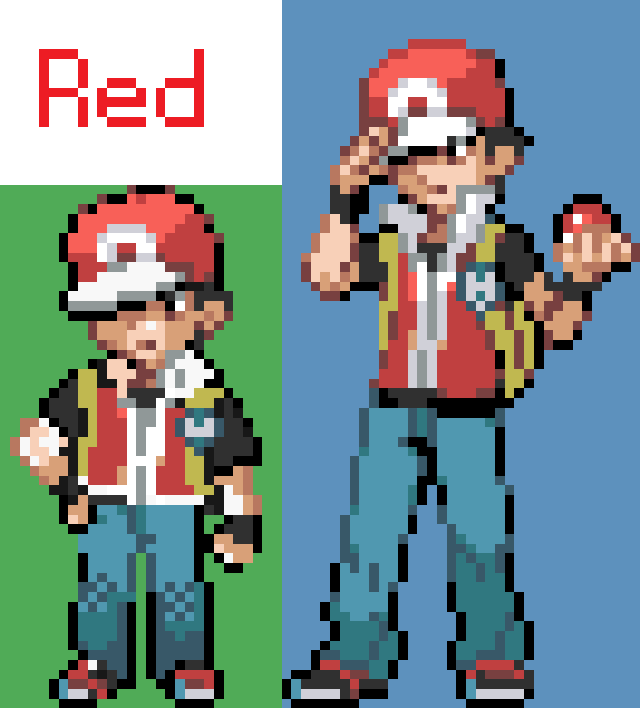 Red Pokemon Sprite | www.imgkid.com - The Image Kid Has It!