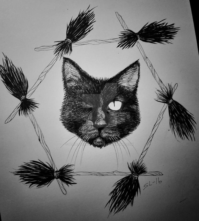 Black cat by Persephoneblackdove