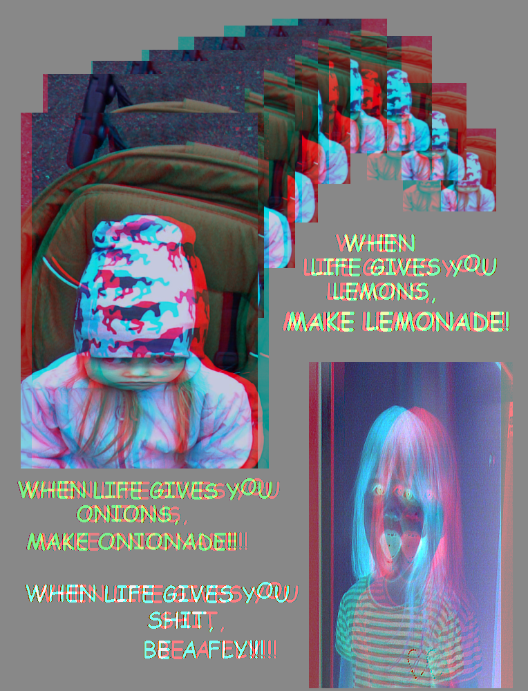 Positive Thoughts for The People (Anaglyph) by Hiscules
