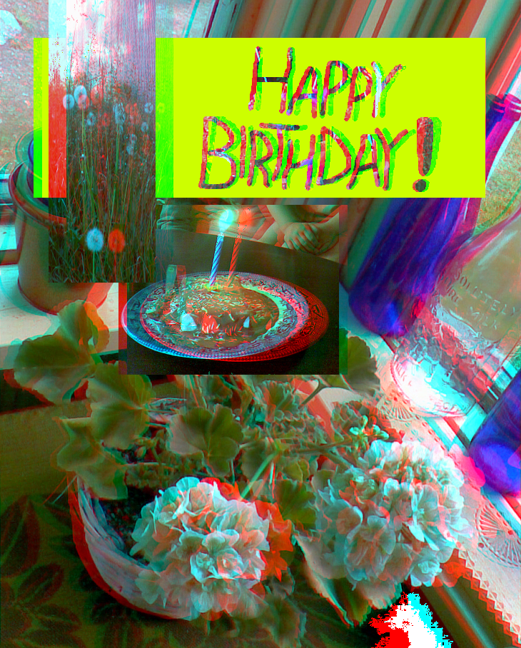 Happy Birthday, aemiliuslives! (Anaglyph) by Hiscules