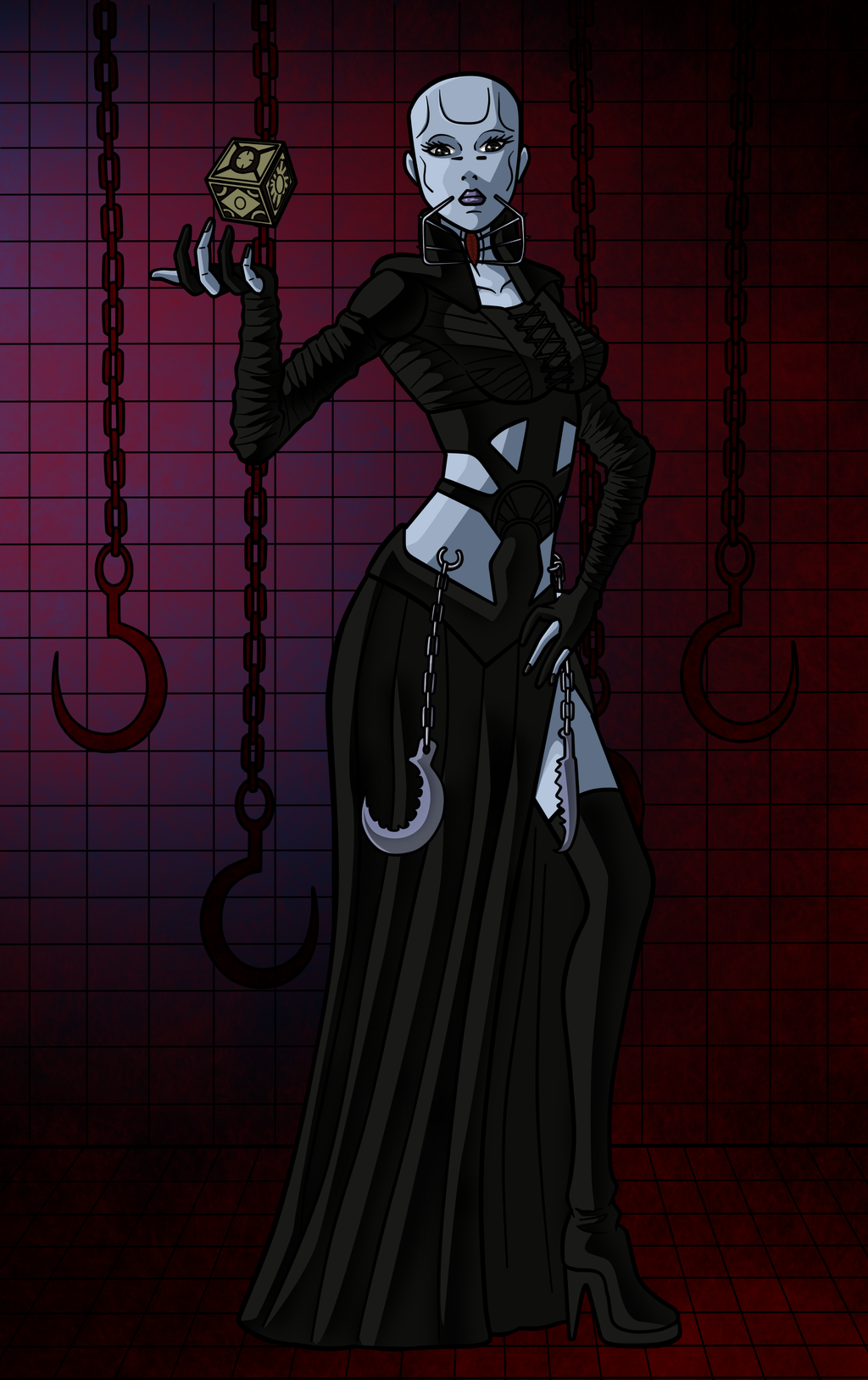 special halloween 4 female cenobite by darkkeferas on