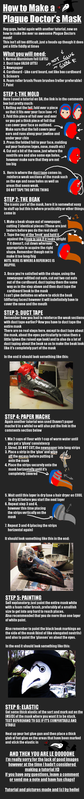 How To: Plague Doctor's Mask by heilei