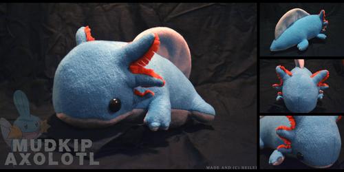 Mudkip Axolotl Plushie by heilei