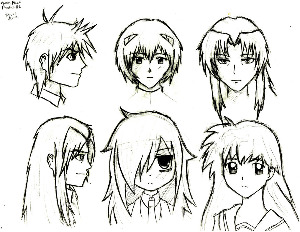 Anime Faces 1 by DivineArms