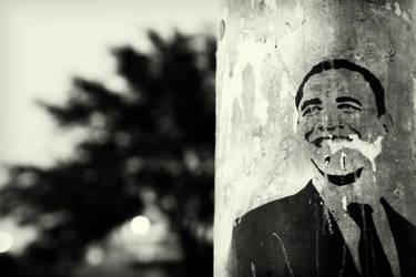 obama stencil by prettyfreakjesper
