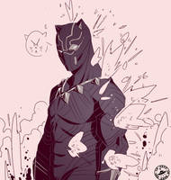 Black panther doodle by Endofdaysonmars