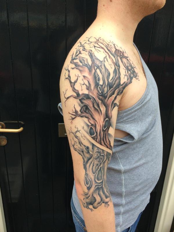 Tree Side Tattoo: Tree Tattoo Side By Hubertmoes On DeviantArt