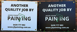 Jason Fisher Painting - Core Flute Fence Signage
