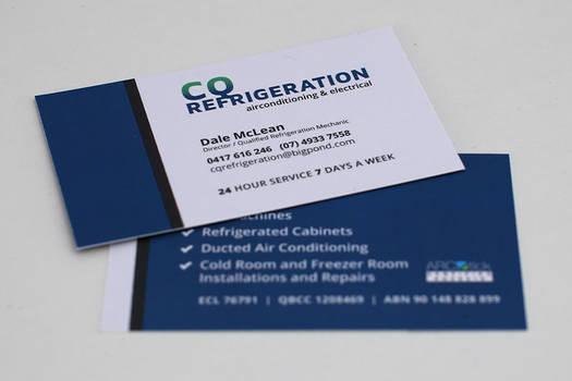 CQ Refrigeration - Business Card Design