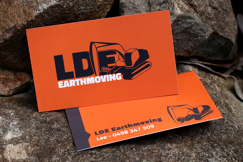 LDE Earthmoving - Business Card Design